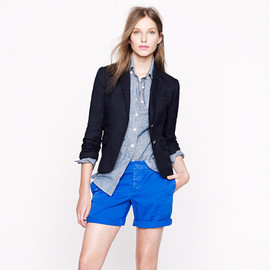 J.CREW - Broken-in boyfriend chino short (festival blue)