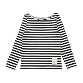 agnès b. pour Adam et Ropé Biotop - Striped long sleeve T-shirt