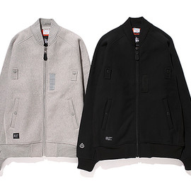 Stussy, Champion - GORE-Windstopper® MA-1 Jacket - Black