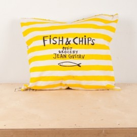 BOBO CHOSES - cushion /Cover Fish&chips/Strip