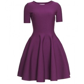 Yves Saint Laurent - FLARED DRESS WITH PUCKERED TRIM