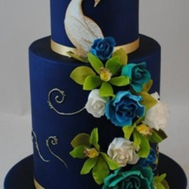 21 Cake Lane - Peacock Wedding Cake