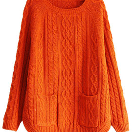 ROMWE - orange knit