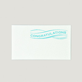 papierlabo - SAB LETTERPRESS MESSAGE CARD / CONGRATULATION