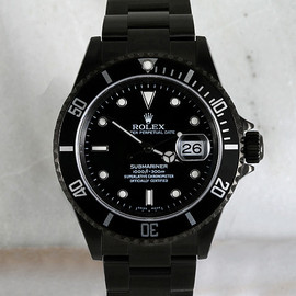 ROLEX - Customised black Rolex watch