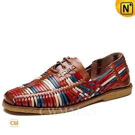 CWMALLS - CWMALLS® Woven Leather Loafers for Men CW716406