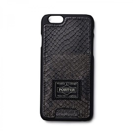 "HEAD PORTER - ""ADDER"" iPhone 6s CASE BLACK"