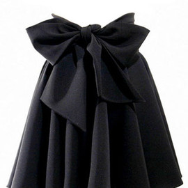 Sweet Retro Bowknot Black Skirt