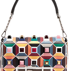 FENDI - Baguette embellished leather shoulder bag