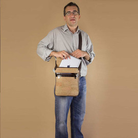 Corkor - Messenger Shoulder Tablet Bag Natural Cork Eco-friendly Green Gift by Corkor