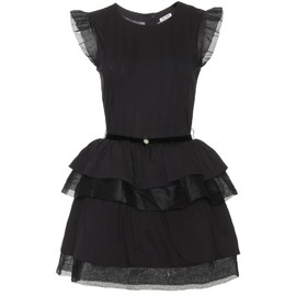 miu miu - DRESS WITH RUFFLED TRIM