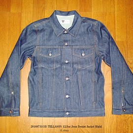 TELLASON - 12.5oz Jean Denim Jacket Rigid Size S