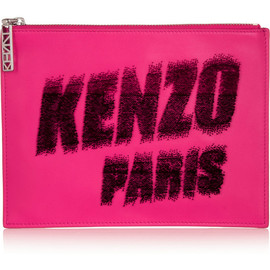 KENZO - Kenzo Paris flocked leather pouch
