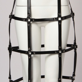 G.V.G.V. - 【G.V.G.V.】LEATHER CAGE SKIRT