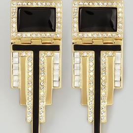 Rachel Zoe - Deco Drop Earrings by Rachel Zoe at Neiman Marcus.