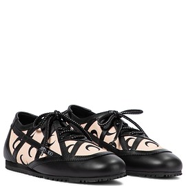 Marine Serre, Jimmy Choo - Marine Serre × Jimmy Choo printed leather-trimmed sneakers