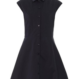 CARVEN - Navy A-line shirt dress