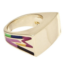 MARC BY MARC JACOBS - MARC JACOBS マークジェイコブス Enamel Ring リング 指輪 GOLD