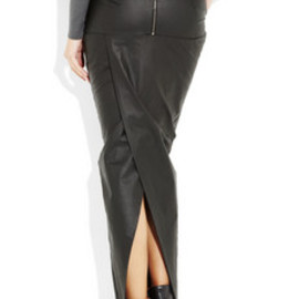 Rick Owens - leather look skirt