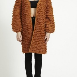 STOLEN GIRLFRIENDS CLU - STOLEN GIRLFRIENDS CLUB FUZZY CARDIGAN  MUSTARD