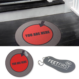FEET FIRST - YOU ARE HERE™