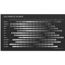 MoMA - 2012 Phases Of The Moon Calendar by Irwin Glusker