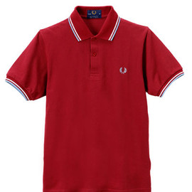 FRED PERRY - THE FRED PERRY Shirt-M12/Maroon×White×Ice