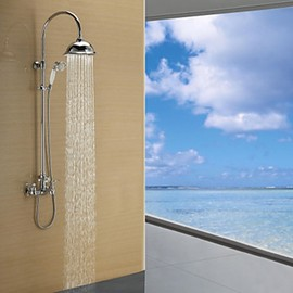Faucetsmall - Contemporary Chrome Finish Single Lever Rain Shower Faucet - Faucetsmall.com