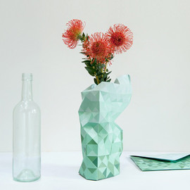 pepe heykoop - paper vase cover green/white