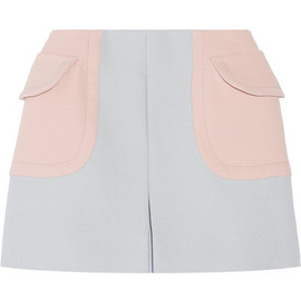 miu miu - 14SS two-tone wool-twill mini skirt