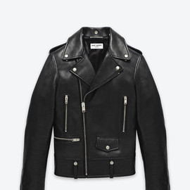 SAINT LAURENT PARIS - Classic Motorcycle Jacket in Black Leather