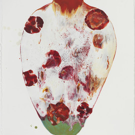 Lynn BASA - Lady Day, 2012, encaustic wax on paper