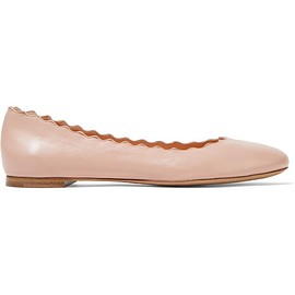 Chloé - Lauren scalloped leather ballet flats