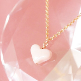 puzzle - 14KGF pink heart ネックレス