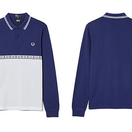 STUSSY, FRED PERRY - Long Sleeve Pique Shirt