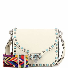VALENTINO - Valentino Garavani Rockstud Rolling leather shoulder bag