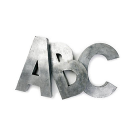 Anthropologie - oversized Zinc Letters