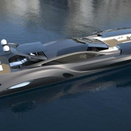 SC 122 yacht and car