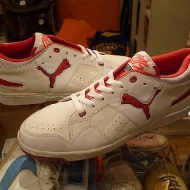 """PUMA - 「<deadstock>80's PUMA CATS LOW white/red""""made in KOEA"""" size:US12 18800yen」販売中"""