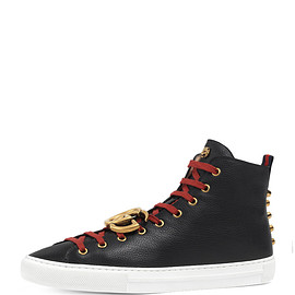 GUCCI - Major Leather High-Top Sneaker w/GG Ornament, Black