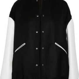 Stella McCartney - Oversized wool-twill baseball jacket