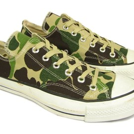 "CONVERSE - 80's ALL STAR ""CAMO"" CANVAS  OX   MADE IN USA"