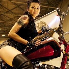 Motorcycle Lady