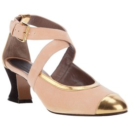 MARNI - BUCKLED TWO-TONE PUMP