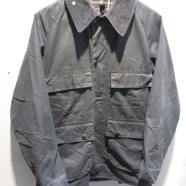 "Barbour - 3Crest Vintage ""BEDALE"" With Pile Lining Made in England Navy"