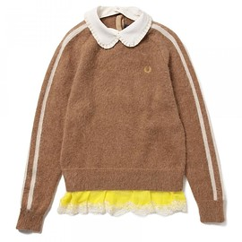 FRED PERRY - ●FRED PERRY×MUVEIL / クルーネック セーター