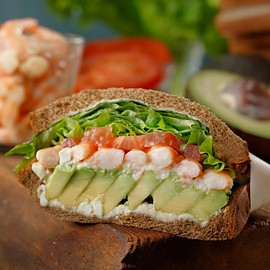 Starbucks - Avocado&Shrimp Sandwiches