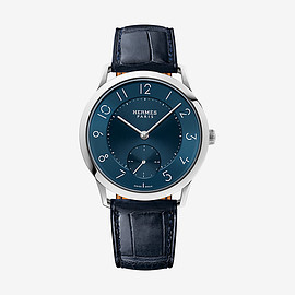 HERMES - Slim d'Hermes watch, large model 39.5 mm