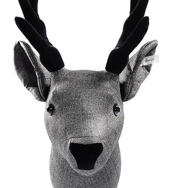 Steiff - Selection stag head decoration graphite Enchanted forest / EAN 025952 / 2012 / 37cm