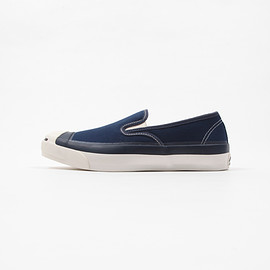 CONVERSE ADDICT - Jack Purcell Canvas Slip-on - Navy